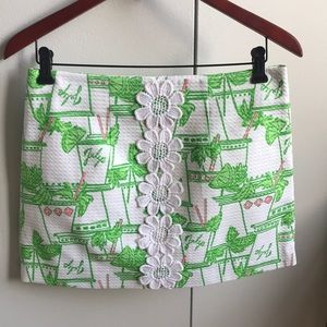 Lilly Pulitzer Just Add Mint Julep Skirt Size 4